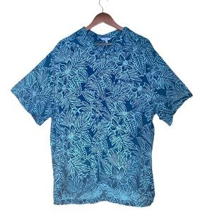 Blue Ginger Hawaiian Floral Print Shirt